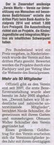 """Artikel in der Zeitung """"Blitz"""" im Oktober 2014"""