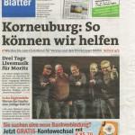 Punschstand 2015 auf dem Titelblatt der Bezirksblätter!
