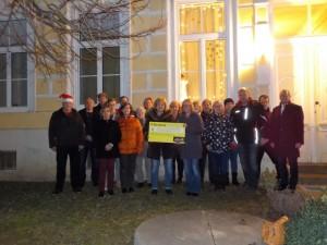 Spendenübergabe der Dorfgemeinschaft Ruppersthal